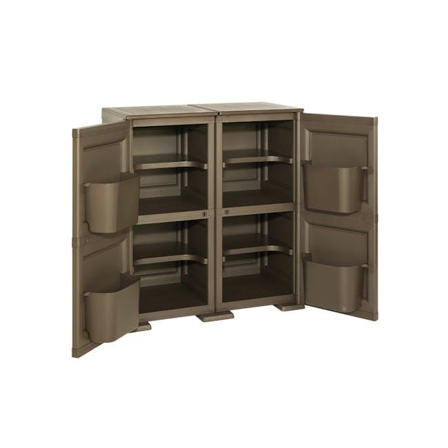 Omnimodus 8 Shelves Shoe Cabinet - Wood Brown - 1