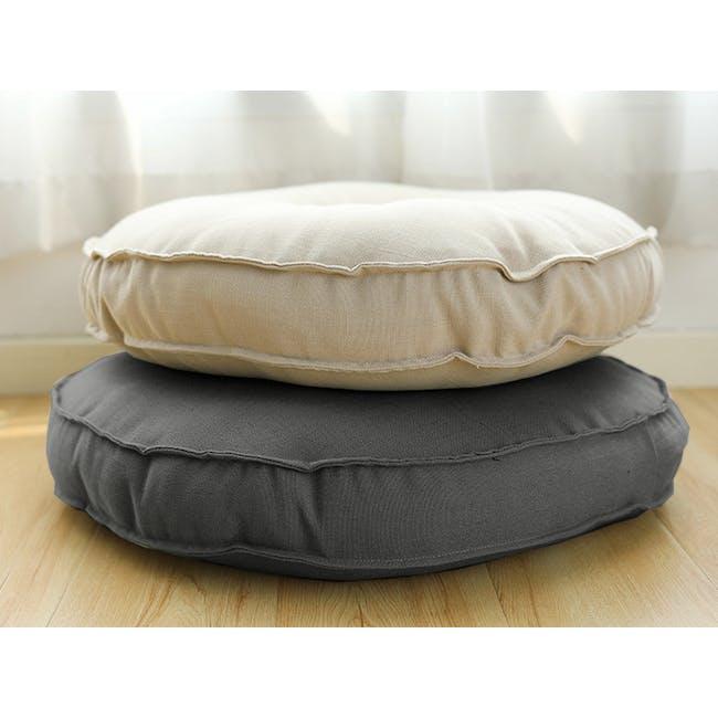 Hanya Round Floor Seat Cushion 60 cm - Grey - 1