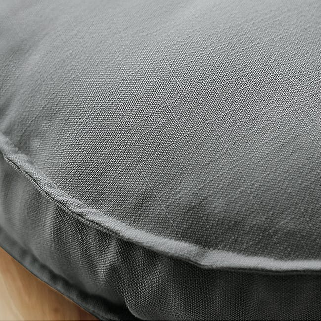 Hanya Round Floor Seat Cushion 60 cm - Grey - 3