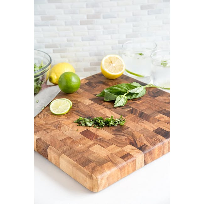 Ironwood Square End Grain Chef's Acacia Cutting Serving Board - 4