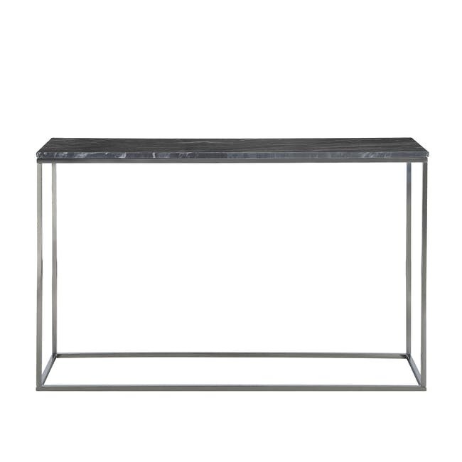 (As-is) Amelia Marble Console Table 1.2m - Grey, Chrome - 6