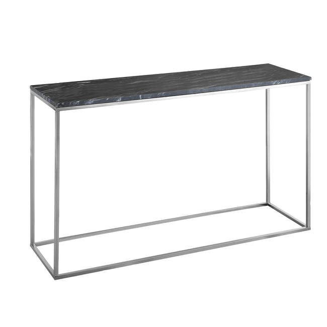 (As-is) Amelia Marble Console Table 1.2m - Grey, Chrome - 2 - 8
