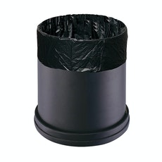 Matte Open-Top Trash Bin - Black