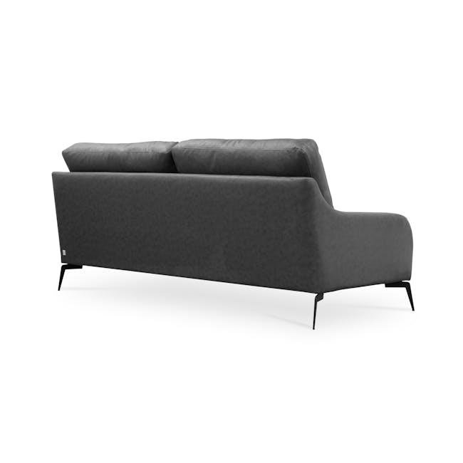 Wellington 3 Seater Sofa - Lead Grey (Faux Leather) - 3
