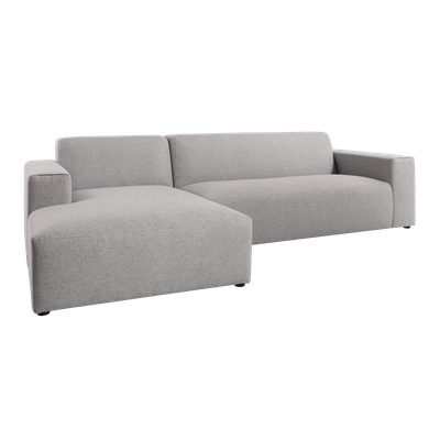 Adam L Shape Sofa - Grey - Image 2