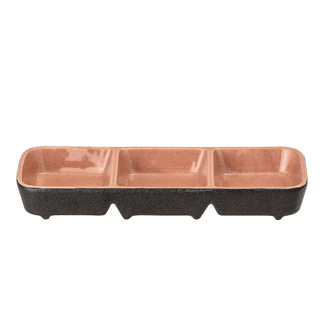 Sienna Serving Dish - Black, Orange - 1
