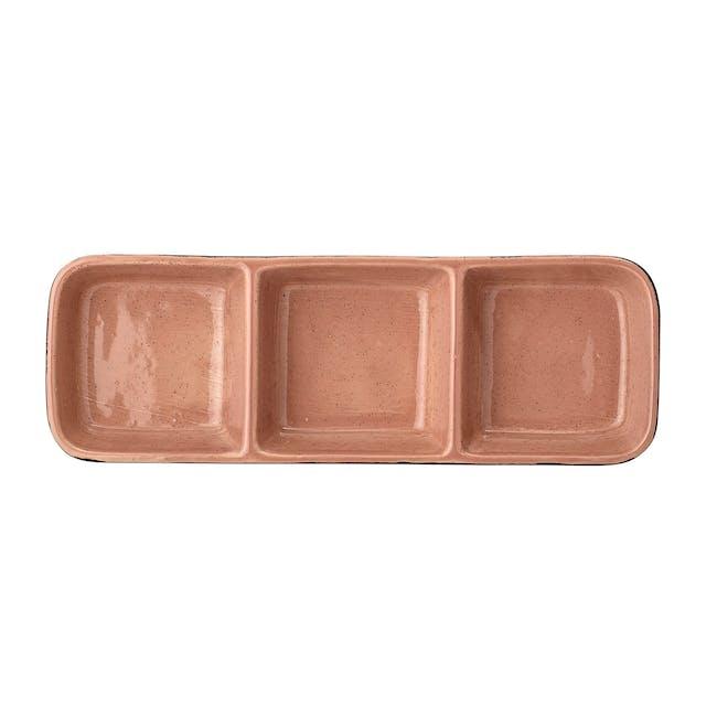 Sienna Serving Dish - Black, Orange - 3