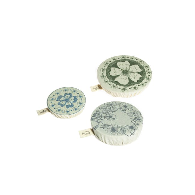 Halo Small Dish Cover Set of 3 - AD Edible Flowers - 0