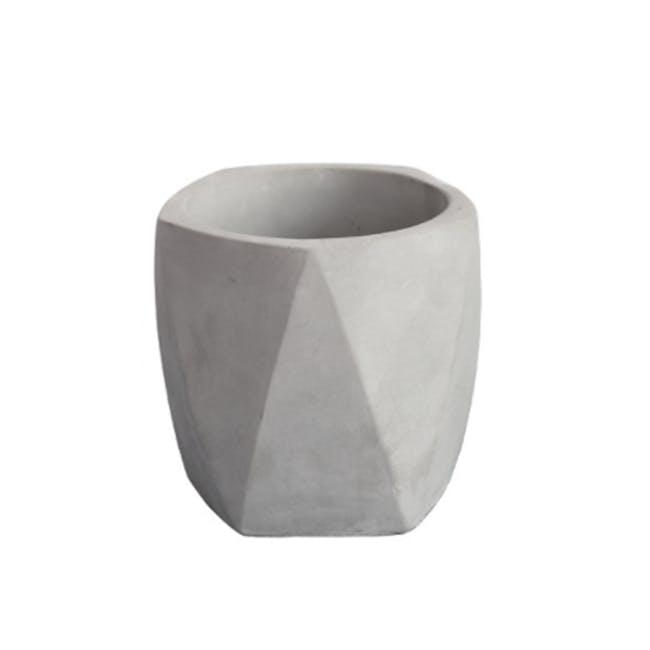 Diamond Concrete Pot with Drainage Hole - Large - 0