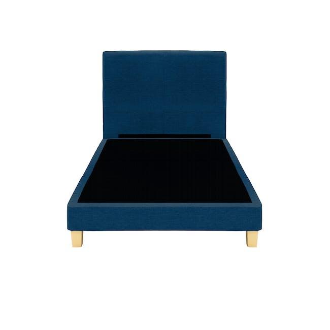 ESSENTIALS Super Single Headboard Divan Bed - Denim (Fabric) - 1