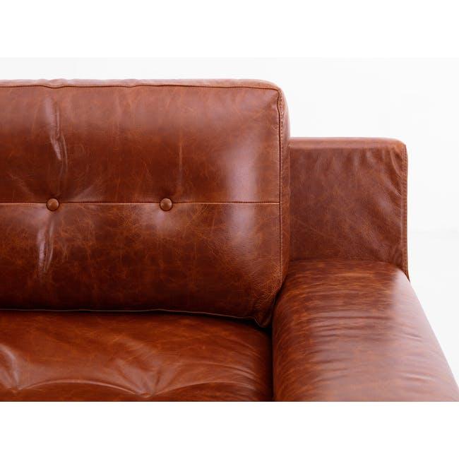 Wyatt 3 Seater Sofa - Cigar (Premium Waxed Leather) - 1