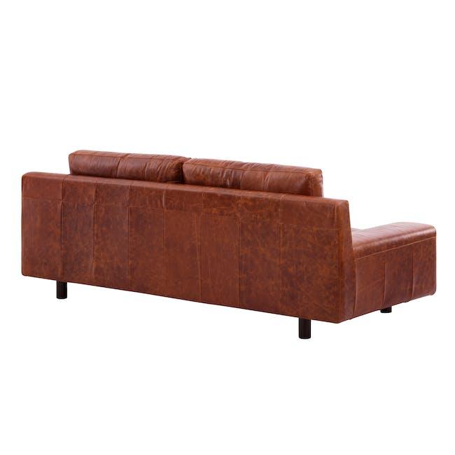 Wyatt 3 Seater Sofa - Cigar (Premium Waxed Leather) - 4