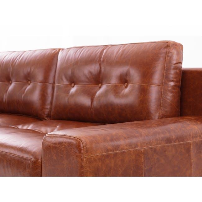 Wyatt 3 Seater Sofa - Cigar (Premium Waxed Leather) - 5