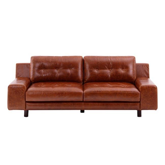 Wyatt 3 Seater Sofa - Cigar (Premium Waxed Leather) - 0