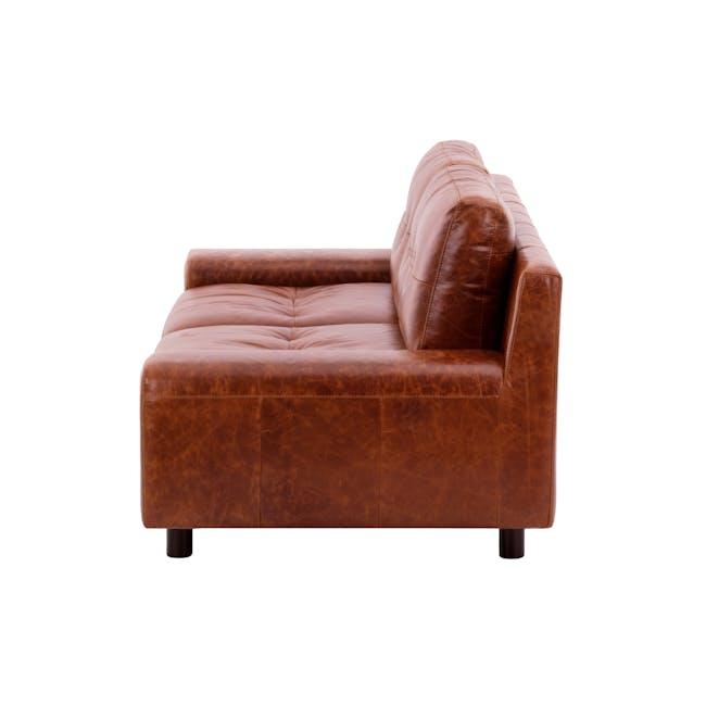 Wyatt 3 Seater Sofa - Cigar (Premium Waxed Leather) - 3