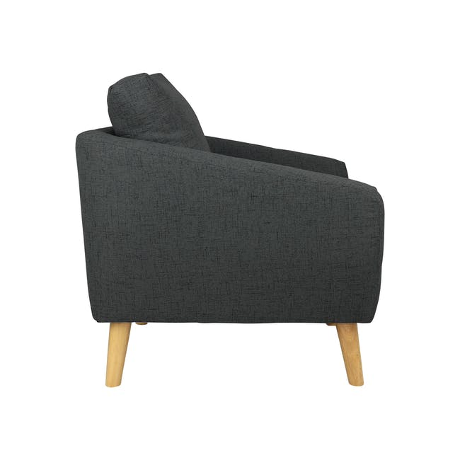 Hana 2 Seater Sofa with Hana Armchair - Charcoal - 4