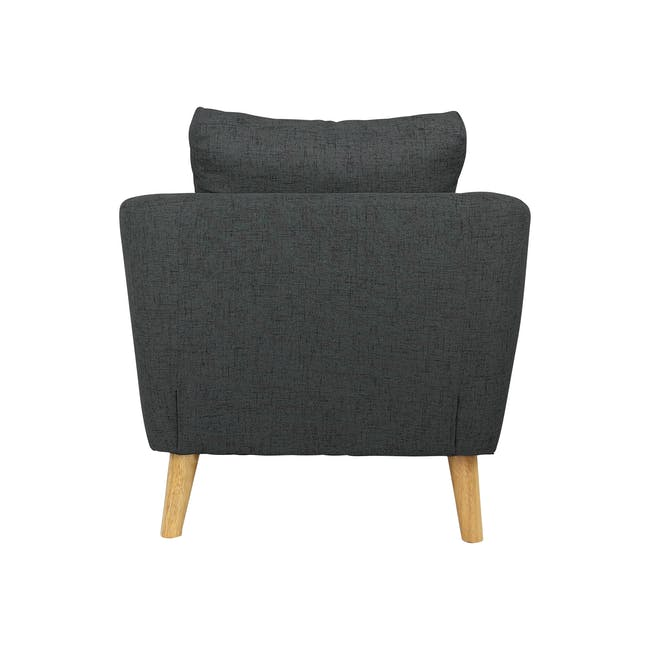 Hana 2 Seater Sofa with Hana Armchair - Charcoal - 5