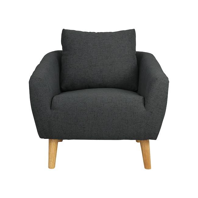 Hana 2 Seater Sofa with Hana Armchair - Charcoal - 6