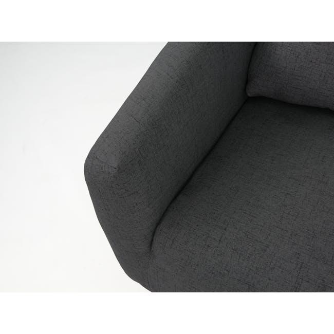 Hana 2 Seater Sofa with Hana Armchair - Charcoal - 7