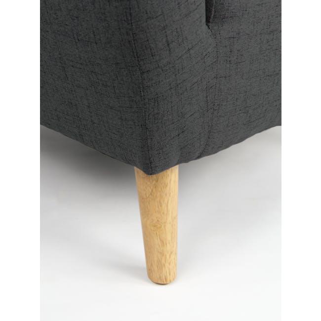 Hana 2 Seater Sofa with Hana Armchair - Charcoal - 8