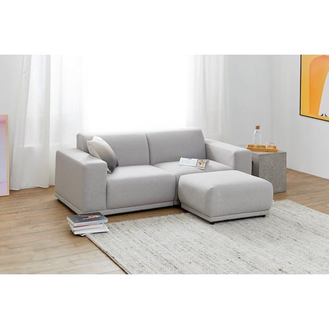 Milan Ottoman - Slate (Fabric) - 1