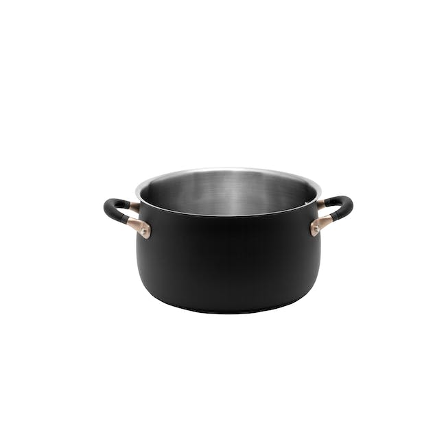 Meyer Accent Series Stainless Steel Stockpot With Lid - 24cm 6.2L - 2