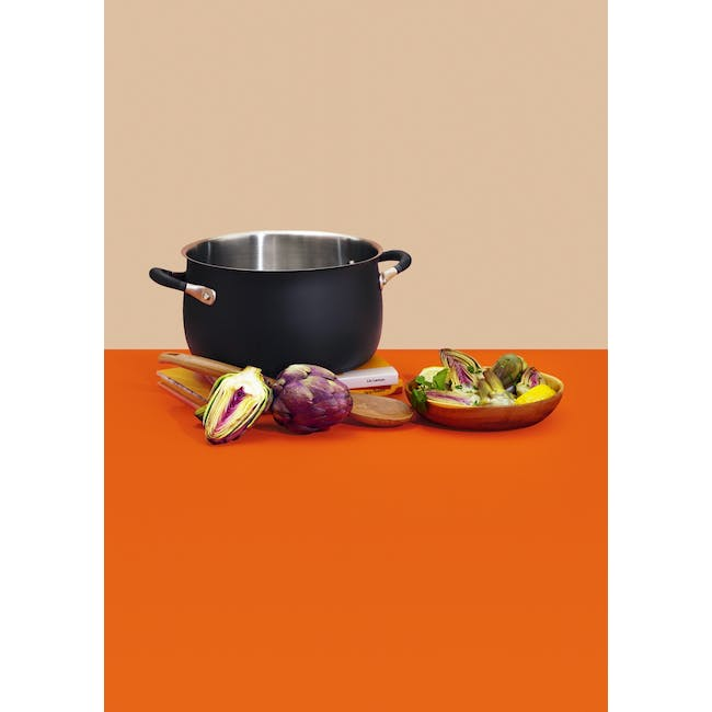 Meyer Accent Series Stainless Steel Stockpot With Lid - 24cm 7.6L - 4