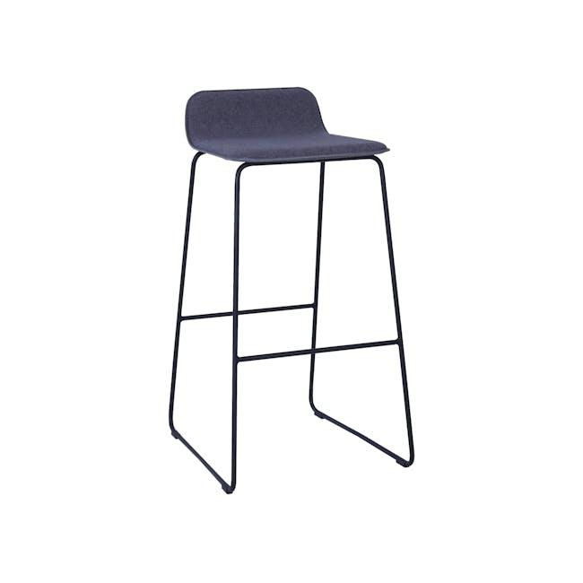 Scotia Bar Chair - Battleship Grey, Black - 0