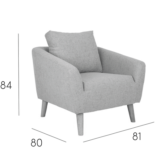 Hana 3 Seater Sofa with Hana Armchair - Charcoal, HipVan Bundles ...