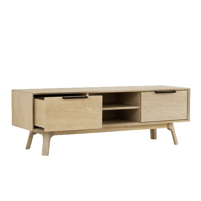 Noud TV Console 1.5m with Nora Rattan Coffee Table - 1