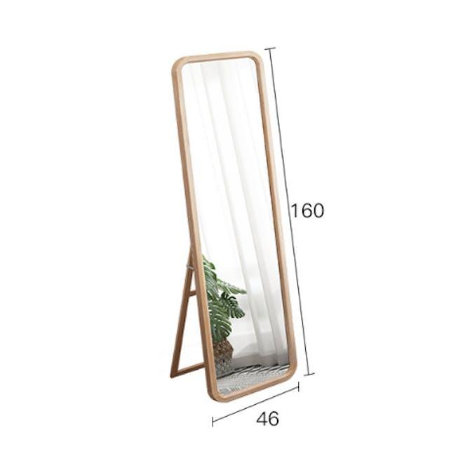 Keiji Standing Mirror 46 x 160 - Oak - 3