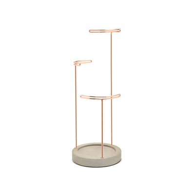 Tesora Jewelry Stand - Concrete, Copper - Image 1
