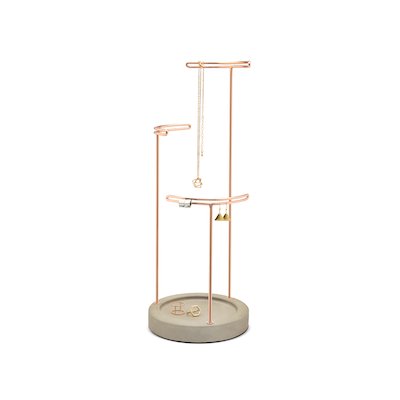 Tesora Jewelry Stand - Concrete, Copper - Image 2