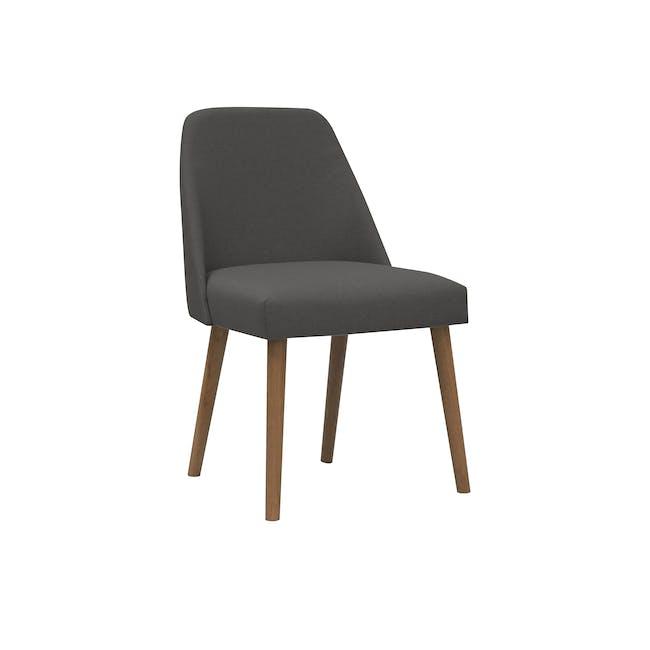 Miranda Chair - Walnut, Onyx Black - 0