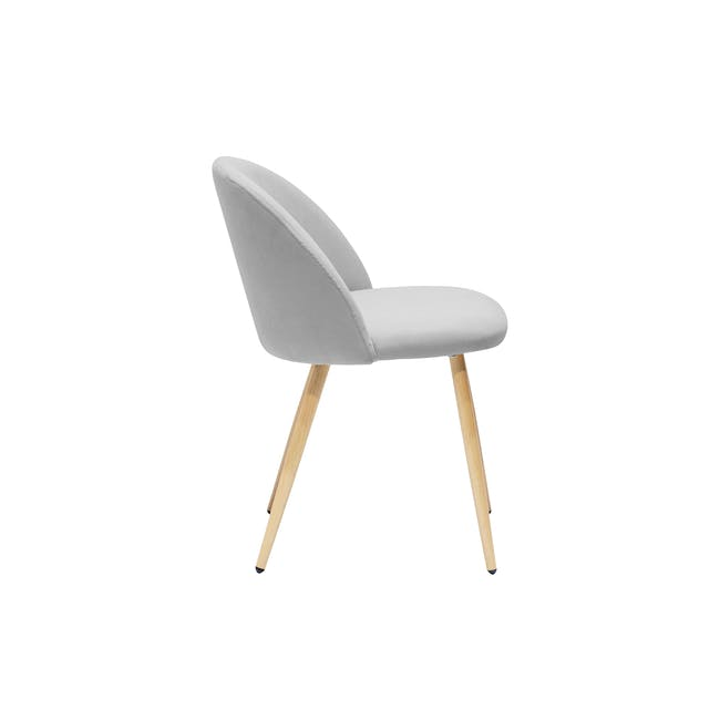 Irma Extendable Table 1.6m with 4 Chloe Dining Chairs in Wheat Beige and Pale Grey - 13