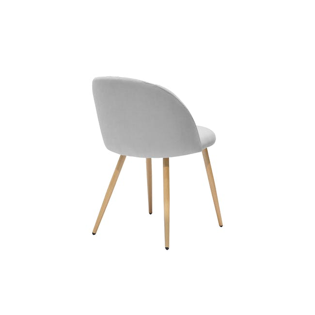 Irma Extendable Table 1.6m with 4 Chloe Dining Chairs in Wheat Beige and Pale Grey - 14
