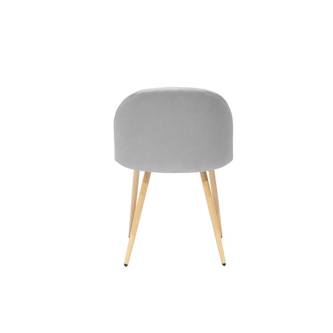 Irma Extendable Table 1.6m with 4 Chloe Dining Chairs in Wheat Beige and Pale Grey - 15