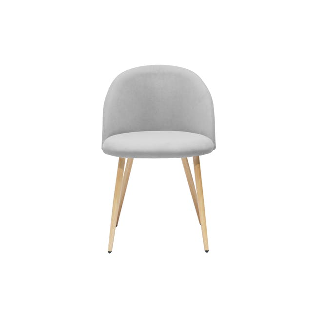 Irma Extendable Table 1.6m with 4 Chloe Dining Chairs in Wheat Beige and Pale Grey - 16