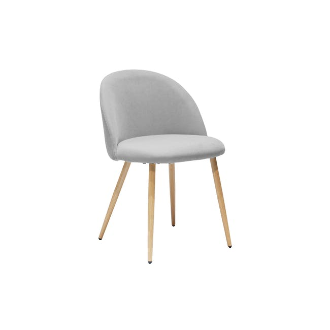 Irma Extendable Table 1.6m with 4 Chloe Dining Chairs in Wheat Beige and Pale Grey - 11