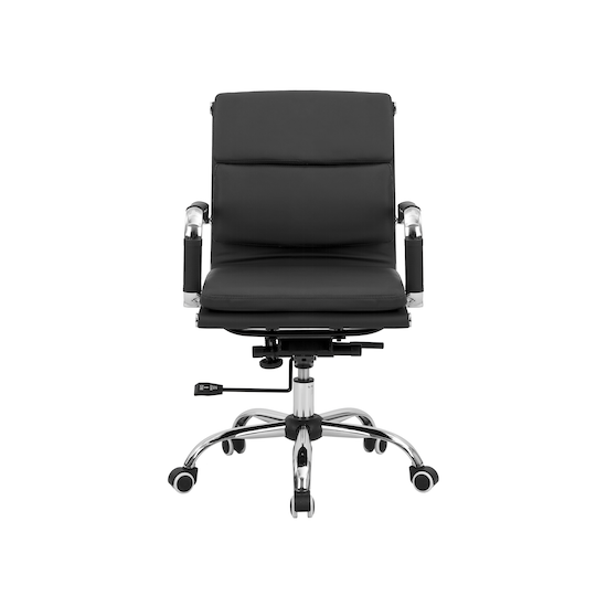 Office Chairs by HipVan - Eames Soft Pad Mid Back Office Chair - Black (PU)