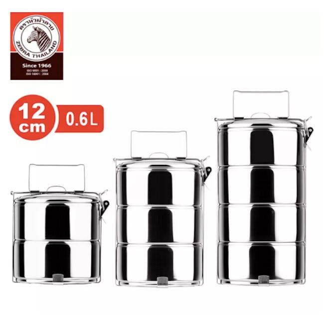 Zebra Stainless Steel Ø12cm Food Carrier (Tier Options) - 1