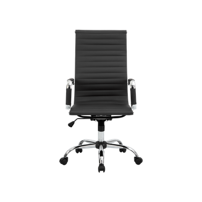 Eames High Back Office Chair - Black (PU) - Image 1