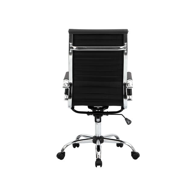 Eames High Back Office Chair Replica - Black (PU) - 6