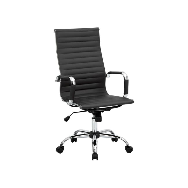 Eames High Back Office Chair Replica - Black (PU) - 4