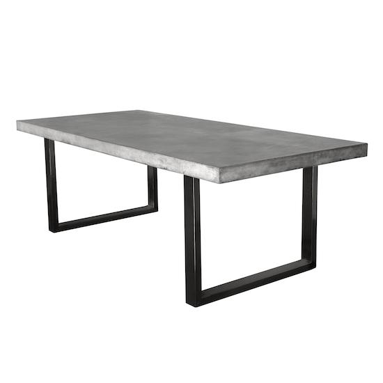 Titus Concrete Dining Table 1 8m Concrete Furniture By Hipvan