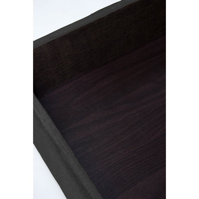 ESSENTIALS King Storage Bed - Grey (Fabric) - 3