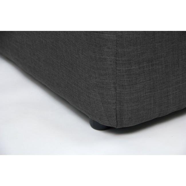 ESSENTIALS Super Single Storage Bed - Smoke (Fabric) - 5