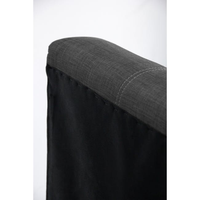 ESSENTIALS Super Single Headboard Storage Bed - Denim (Fabric) - 6