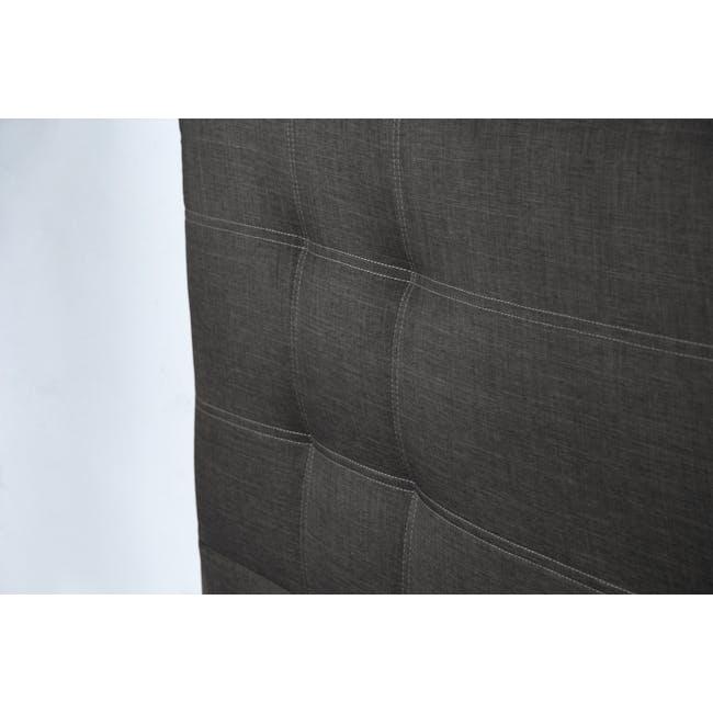 ESSENTIALS Single Headboard Storage Bed - Smoke (Fabric) - 7