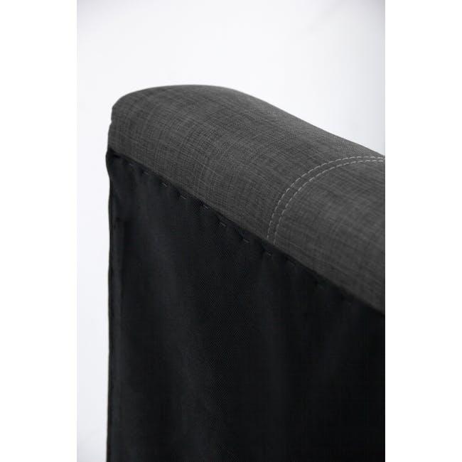 ESSENTIALS Single Headboard Storage Bed - Smoke (Fabric) - 8